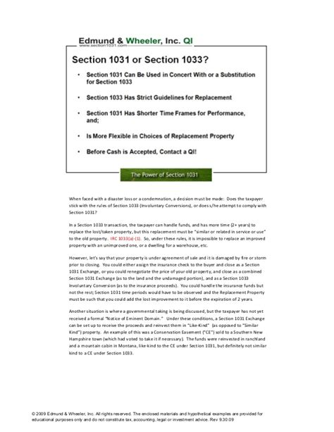 section 1033 exchange section 1031 for pros handbook