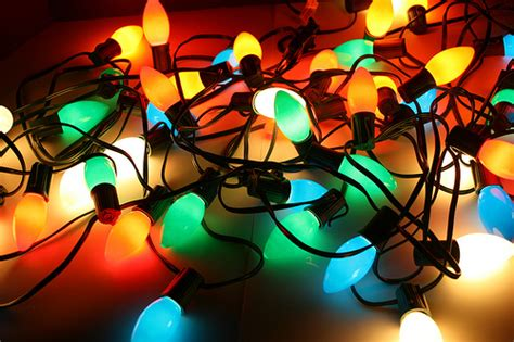 old fashioned christmas lights photo