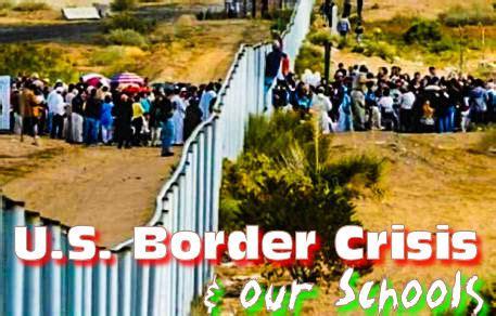 border crisis unfolding crisis leveled   schools