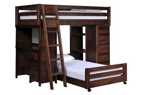 living spaces kids desk sedona twin twin loft bunk w chest desk living spaces