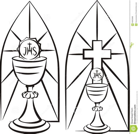 eucharist coloring page apexwallpapers com chalice on the background of stained glass stock vector