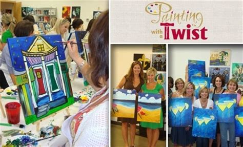 paint with a twist grapevine tx painting with a twist in woodlands groupon