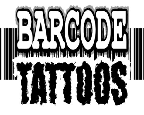 barcode tattoo font generator barcode tattoos design and print own scannable barcode