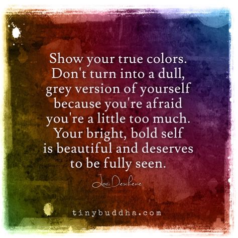 your true colors show your true colors tiny buddha