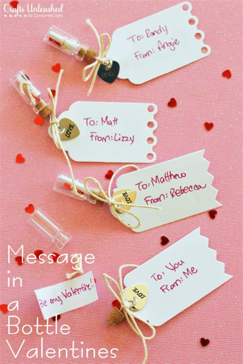 message in a bottle valentines gift message in a bottle handmade valentines tutorial