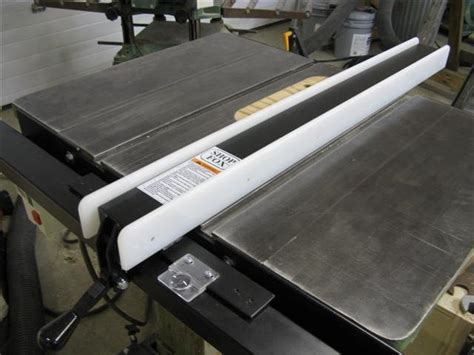 review shop fox table saw fence gets marks by