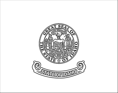 Idaho Flag Coloring Page Purple Kitty Idaho State Flag Coloring Page