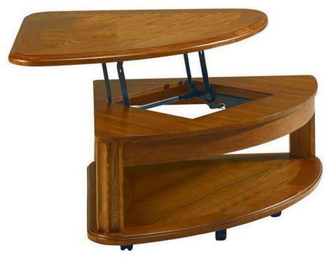 wedge shaped coffee table