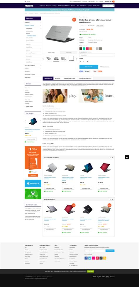 big commerce template meros premium responsive bigcommerce template stencil