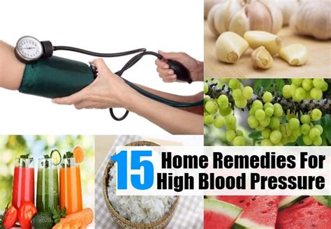 15 home remedies for high blood pressure