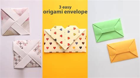 How To Make A Paper Envelope Easy - 3 easy origami envelopes