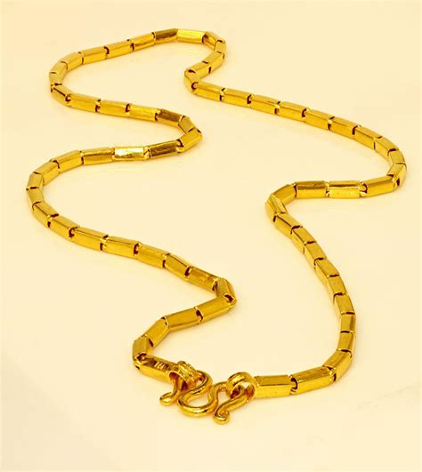 """22K 22kt PURE GOLD 2 baht chain / necklace handmade from Thailand 20""""   eBay"""