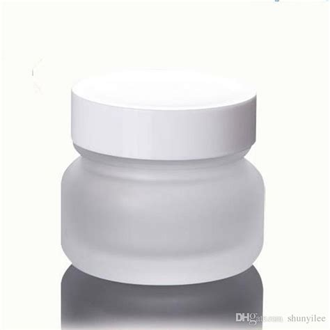glass cream jar 50g empty frosted glass jar cosmetic container handmade packaging luxury bottles with