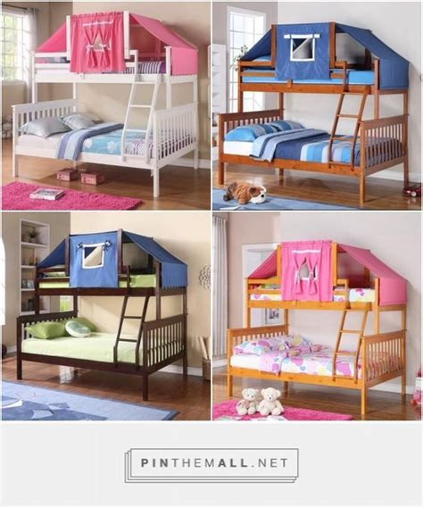 simple no sew bunk bed tent the palette muse twin over full bunk bed with top tent bed comes in white