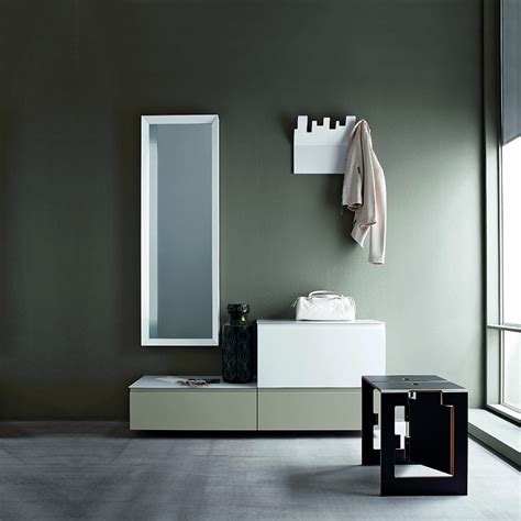 Hallway Furniture Set With Mirror Cabinets Hangers And Modern Entry Furniture