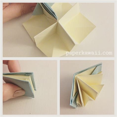 Origami Pop Up Book - learn how to make an origami popup book follow my step by