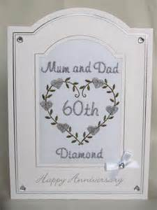diamond wedding anniversary card hearts anniversary