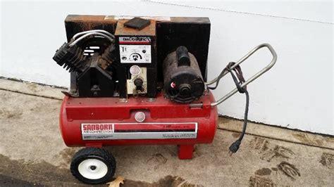 sanborn air compressor 1 hp 5 2scf flammable liquid storage tools k bid
