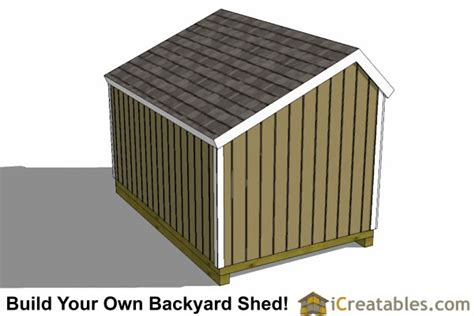 8x12 Shed Foundation by 8x12 Saltbox Shed Plans Saltbox Storage Shed