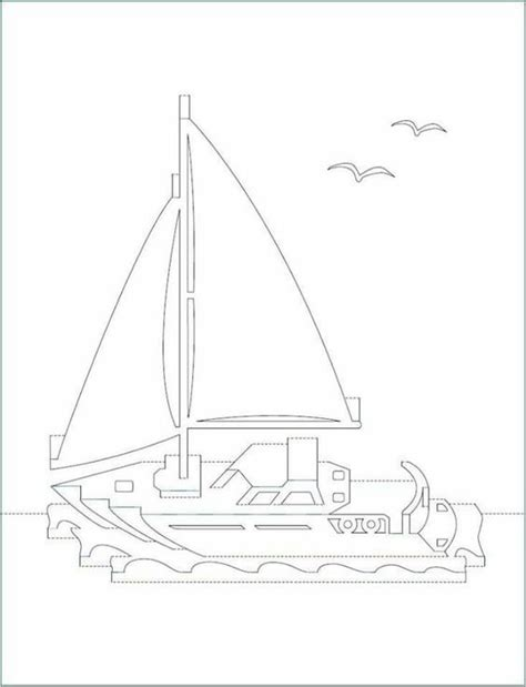 sailboat pop up card template diy ship 3d card kirigami pattern pop up i kirigami