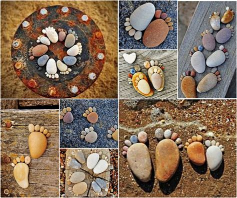 Handmade Rock - 19 handmade cheap garden decor ideas to upgrade garden