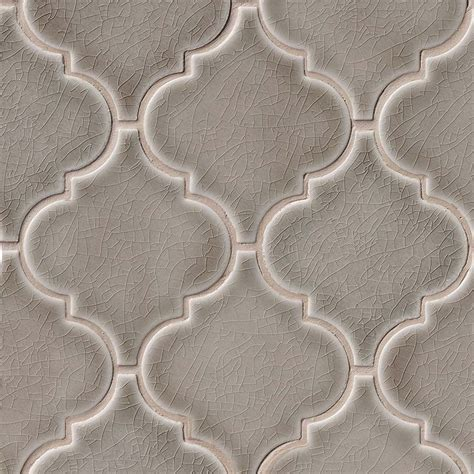 dove gray arabesque 8 mm ceramic backsplash tile