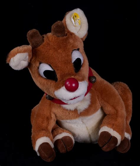 light up reindeer moving head vtg gemmy rudolph red nosed reindeer singing animated