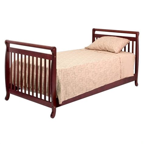 Bed Rails For Convertible Cribs Davinci Emily Mini 2 In 1 Convertible Crib With Bed Rails In Cherry M4798c M4799c Pkg