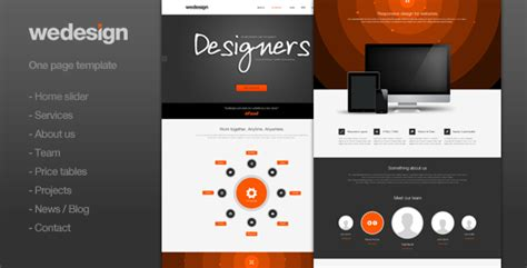 we design one page portfolio by clapat themeforest