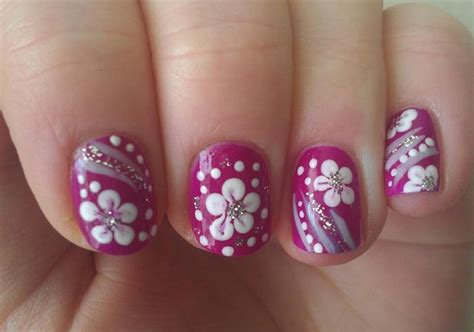 design flower nail art 25 astonishing flower nail designs for inspiration sheideas