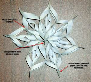 How To Make A 3d Snowflake Out Of Paper - best photos of 3d snowflake patterns 3d paper snowflake