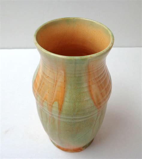 Beswick Vases by Beswick Ware Vase Made In Orange Lime Colors