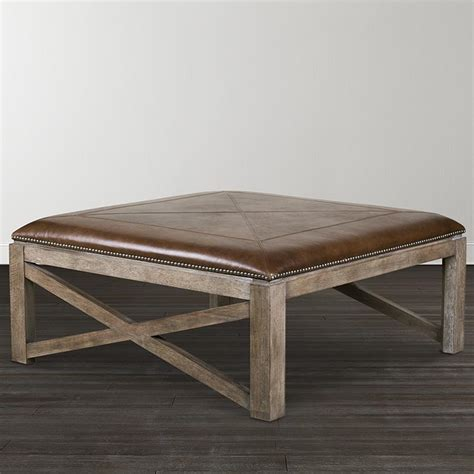 square cocktail table with 4 ottomans compass square ottoman cocktail table