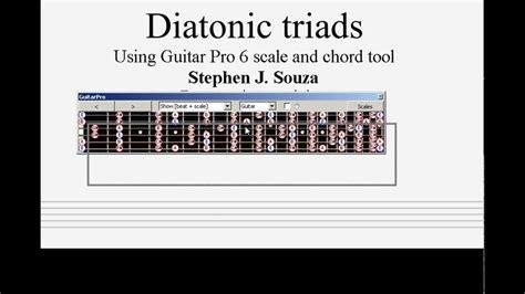 tutorial guitar pro 6 guitar pro 6 tutorial diatonic triads part 1 youtube
