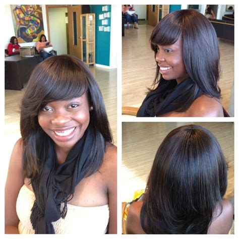 full sew in styles with no leave out sew in with side part no leave out hairstyle gallery