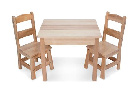 wooden table chairs toddlers doug solid wood table and 2 chairs