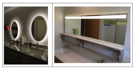 bathroom mirrors with lights behind bathroom lighting showering you with ideas inspiredled blog