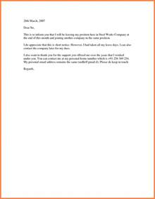 Resignation Letter By 5 Notice Resignation Letters Notice Letter