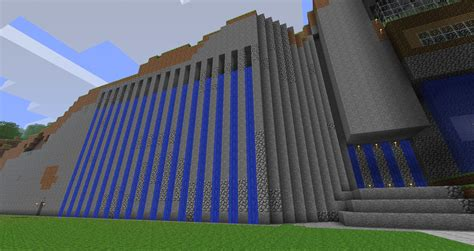 Free Blueprints For Houses Minecraft Modern Waterfall By Brunobsb On Deviantart