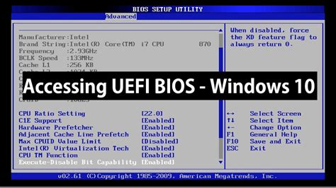 Reset Bios Windows 10 | how to access uefi bios setup on windows 10 youtube