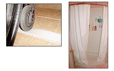 Water Dam For Shower Stalls by Collapsible Water Retainer Shower Dam Weighted Shower