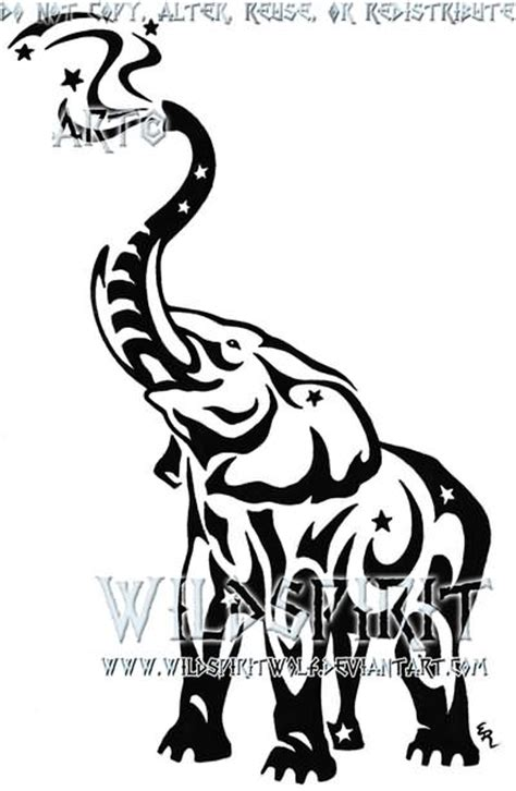 elephant tattoo clipart horse and wolf tribal tattoo design by wildspiritwolf