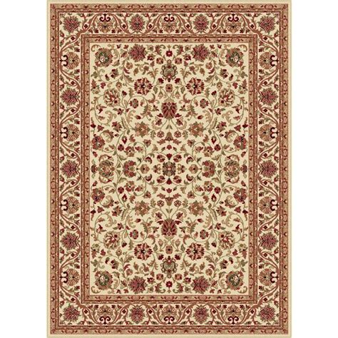 Transitional Area Rug Tayse Rugs Sensation Beige 2 Ft X 3 Ft Transitional Area Rug 4812 Ivory 2x3 The Home Depot