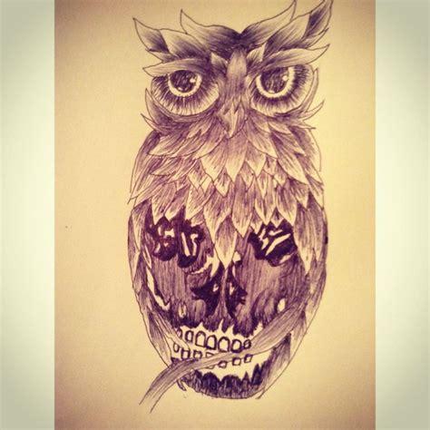 skull owl tattoo design owl skull tattoo design random artwork pinterest