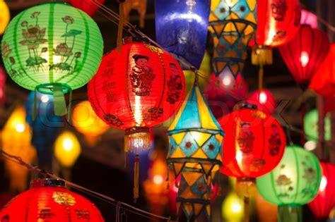 asiatische laternen  laternenfest stockfoto colourbox