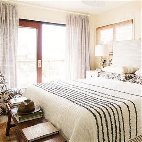 black and white striped headboard black and white stripe curtains and headboard cottage