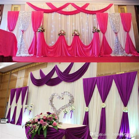 wall curtains for parties wedding party background fabric satin curtain drape stage