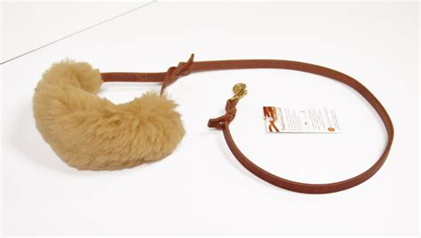 service in leash wrap sheepskin wrap leash or harness handle padded wrap