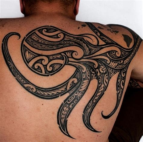 polynesian octopus tattoo designs 28 tribal octopus tattoos and designs