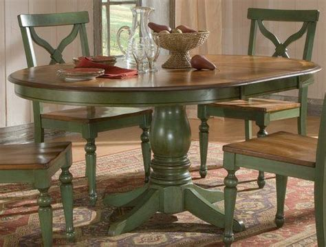 sidney dining room set green country table